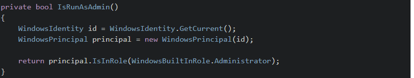 run the application with admin rights