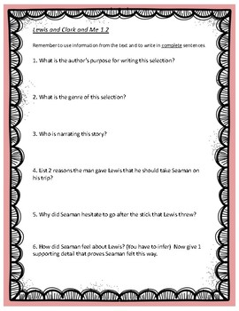 lewis and clark reading comprehension pdf