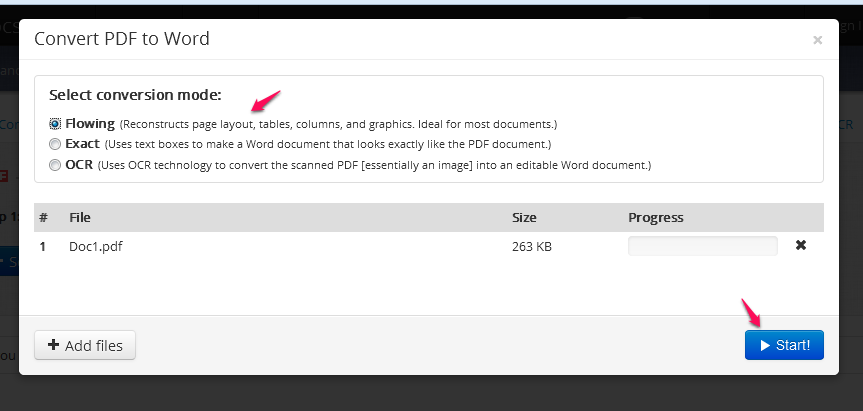 easy convert pdf to word