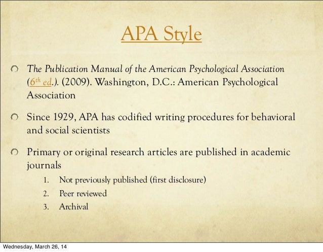 publication manual of the american psychological association 6th edition