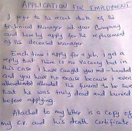 application letter for a job vacancy in nigeria